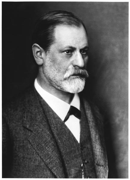 Portrait of Sigmund Freud (1856-1939) c.1900 (b/w photo)