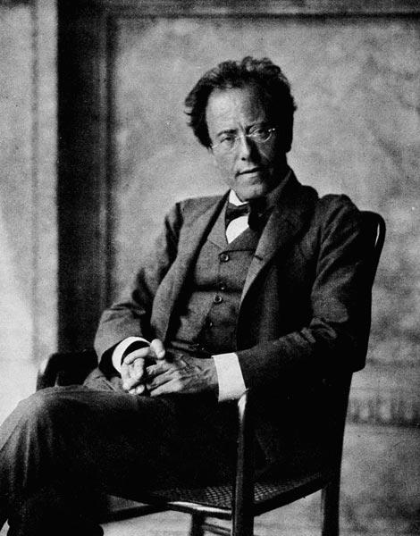 Portrait of Gustav Mahler, 1907 (b/w photo)