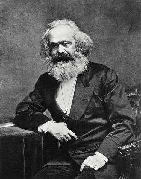 Portrait of Karl Marx (1818-1893) (b/w photo)