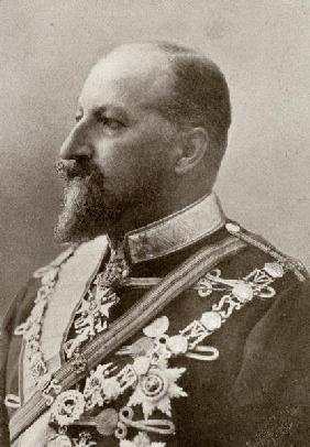 Ferdinand I, Tsar of Bulgaria, from ''The Year 1912'', published London, 1913 (b/w photo)