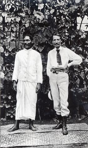 Robert Louis Stevenson and his friend Tuimale Aliifono (b/w photo)