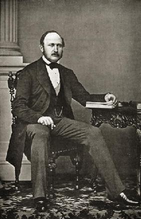 The last portrait of HRH Prince Albert (1819-65) (b/w photo)