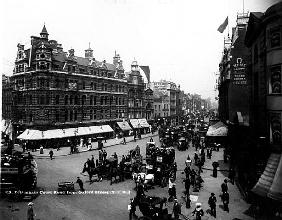 Tottenham Court Road from Oxford Street, London, c.1891
