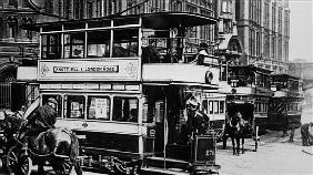 Trams in Manchester, c.1900