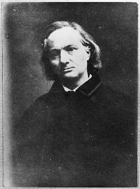 Charles Baudelaire (1821-67) (b/w photo)