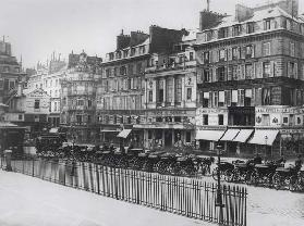Place de la Bourse, Paris, c.1860-70 (b/w photo)