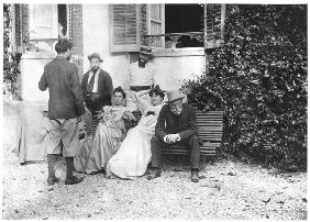 The day after the funeral of Stephane Mallarme (1842-98) September 1898 (b/w photo)