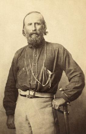 Giuseppe Garibaldi, from a 19th century photograph (litho)