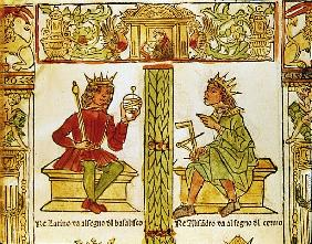 King Latinus and King Alexander, from ''The Book of Fate'' by Lorenzo Spirito Gualtieri