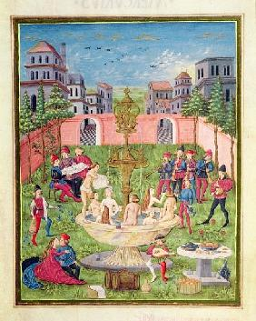 Ms. ''De Sphaera'' fol.11r The Fountain of Youth