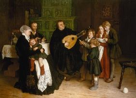Luther amongst his family , Spangenberg.