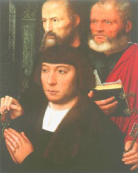 Founder portraits with the apostles of Peter and Paulus (right wings of a Diptychons?)