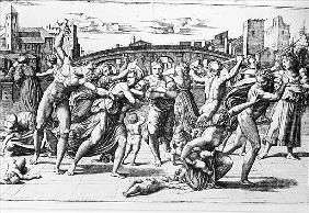 The Massacre of the Innocents; engraved by Marcantonio Raimondi