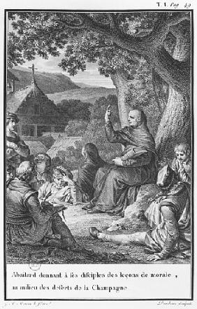 Abelard lecturing among disciples in the deserted Champagne, illustration from ''Lettres d''Heloise
