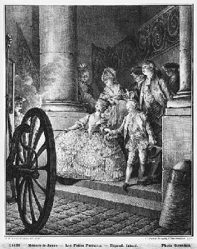 The Little Godfathers, 1776; engraved by in 1777 Pierre Charles Baquoy (1759-1829) and Charles Emman