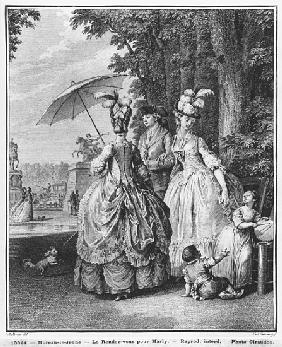 The rendezvous for Marly; engraved by Carl Guttenberg (1743-90) c.1777