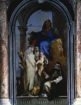 Mary with Dominican nuns/ Tiepolo/ 1740