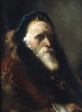 G.D.Tiepolo / Head of Old Man / Paint.