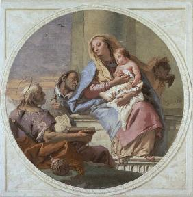 G.D.Tiepolo / Mary w.Child & Saints