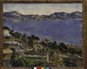 Cezanne, Paul 1839-1906. ''L''Estaque'' (View of the Gulf of Marseille), 1878/79. Oil on canvas, 59.