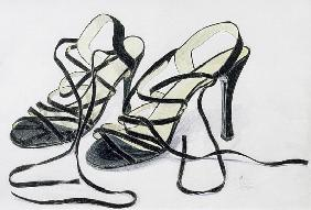 Black Strappy Shoes