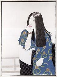 Blue Kimono, 1995 (ink, w/c, gouache and charcoal on paper)