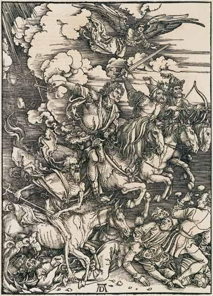 The apocalyptic riders woodcut
