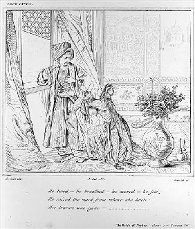 Scene from The Bride of Abydos by Lord Byron