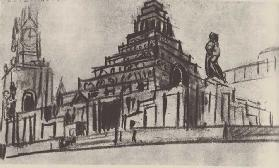First sketch for the Lenin Mausoleum