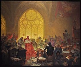 The Hussite King George of Podebrady (The cycle The Slav Epic)