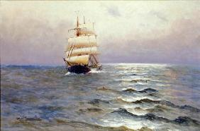 Tall Ship (oil on canvas)