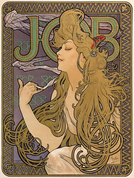 Poster for the cigarette brand job.