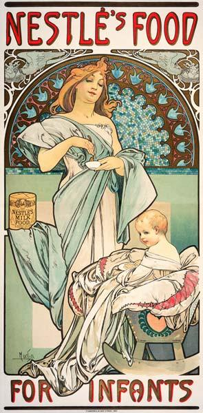 Nestle''s Food for Infants. Plakat, 1897, fuer Babynahrung der Firma Nestle.