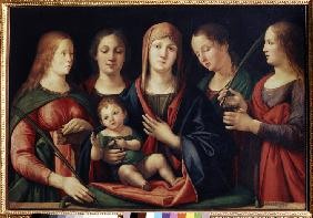 Madonna and Child with Mary Magdalen, Saint Catherine and two Saints