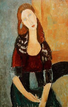 A.Modigliani, Jeanne Hébuterne, seated