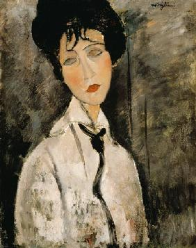Woman portrait with tie 1917