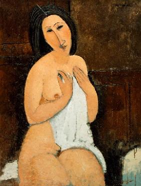 Seated Nude with a Shirt