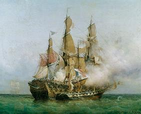 The Taking of the 'Kent' by Robert Surcouf (1736-1827) in the Gulf of Bengal, 7th October 1800