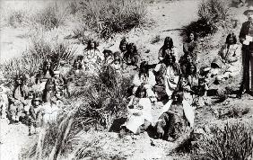 The last of the escapees after the final rout of Geronimo (b/w photo)