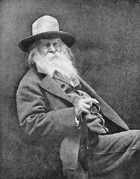 Walt Whitman (1819-91) (b/w photo)