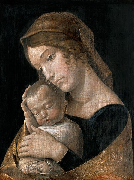 Maria with the sleeping child