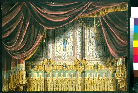 Sketch for the curtain for the Michael Theatre in Saint Petersburg