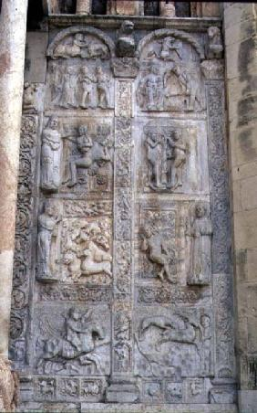 Relief panels of subjects from the Book of Genesis, Romanesque