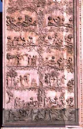 Bas-relief panel depicting scenes from Genesisfrom the lower cathedral facade