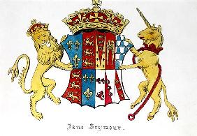 Coat of Arms of Jane Seymour (c.1509-37), third wife of King Henry VIII of England (1491-1547)