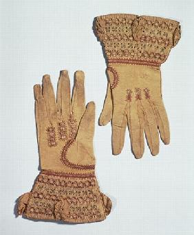 Gloves belonging to Queen Anne, 17th century
