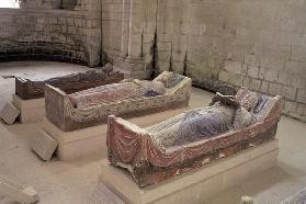Three Plantagenet Tombs: Henry II (1133-1189) Eleanor of Aquitaine (c.1122-1204) and Richard I (1157