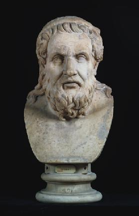 Portrait bust possibly of either Hesiod (8th century BC) or Homer (8th century BC)