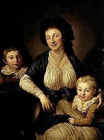 Portrait Christiane Schletter, born Demiani with her sons