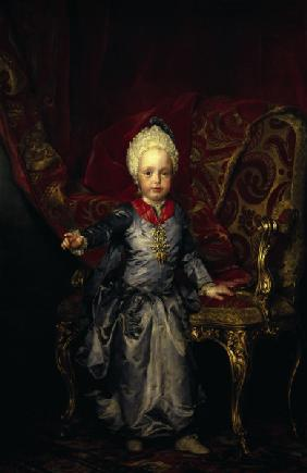 Emperor Franz II as a child
